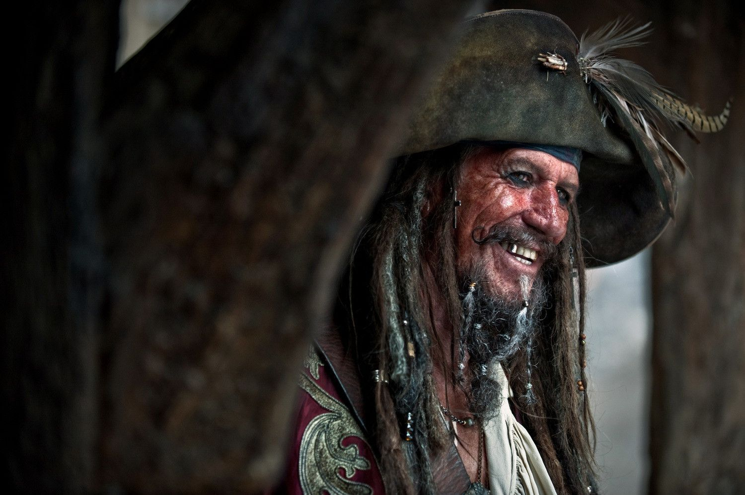 Keith Richards as Captain Edward Teague, Keeper of the Pirate Codex
